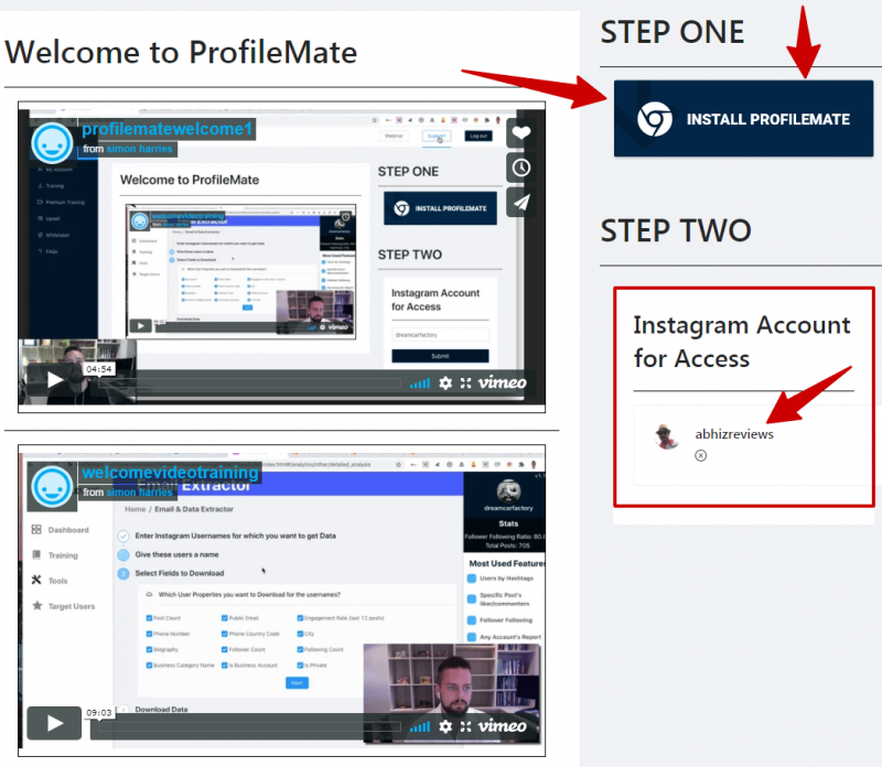 ProfileMate dashboard review