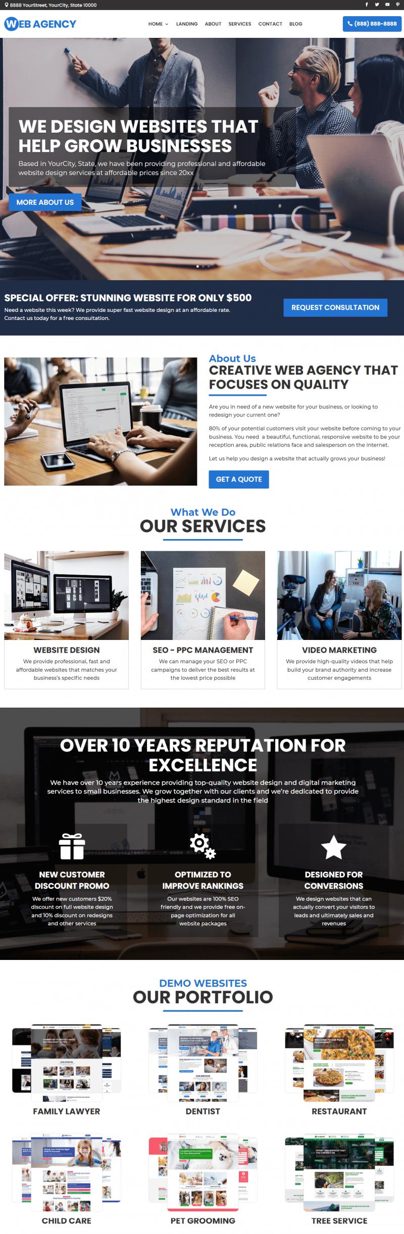 Powerful Web Design Agency Website