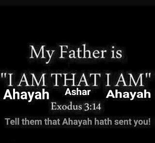 Father is I AM that I AM, which is Ahayah Ashar Ahayah in Paleo Hebrew (Exodus 3:14)