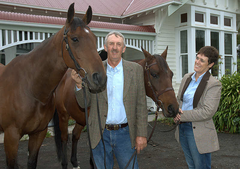 Keith and Karen Harrison's affection for their horses is obvious